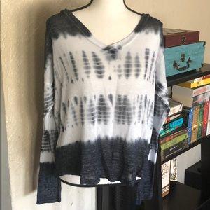 Aeropostale Tie Dye Print Lightweight Sweater XL